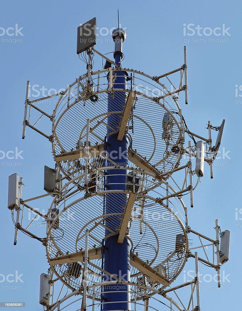 Communications Mobile Phone Radio Telecommunication Tower06 stock photo