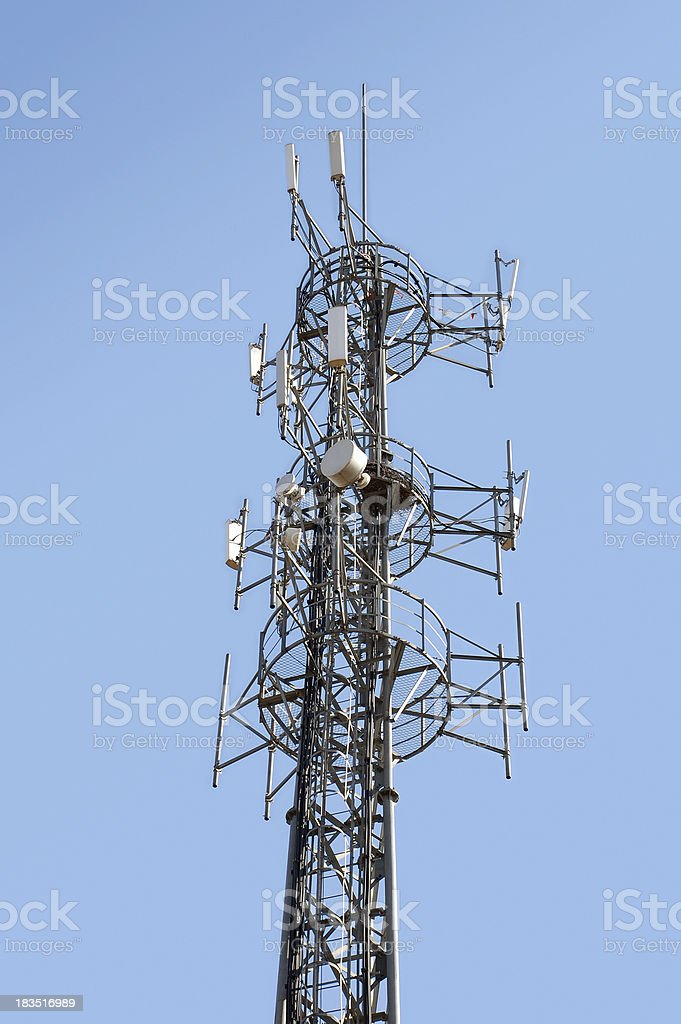 Communications  Radio Tower royalty-free stock photo