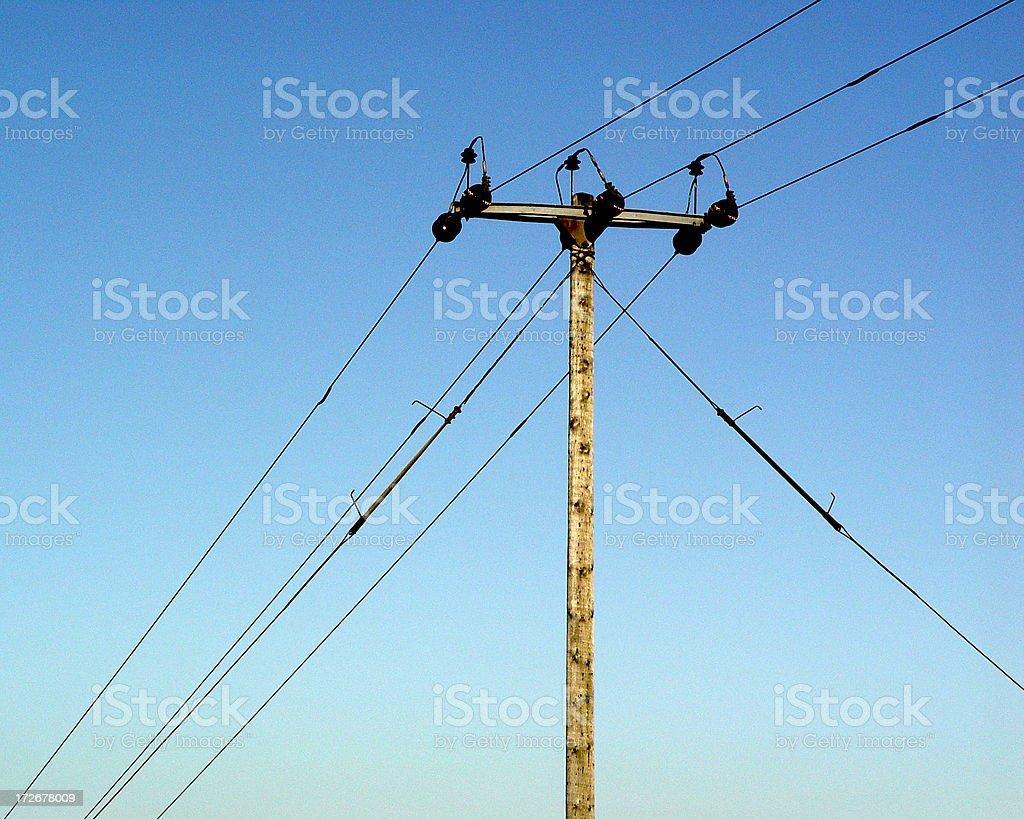 Communications Telephone Poll stock photo