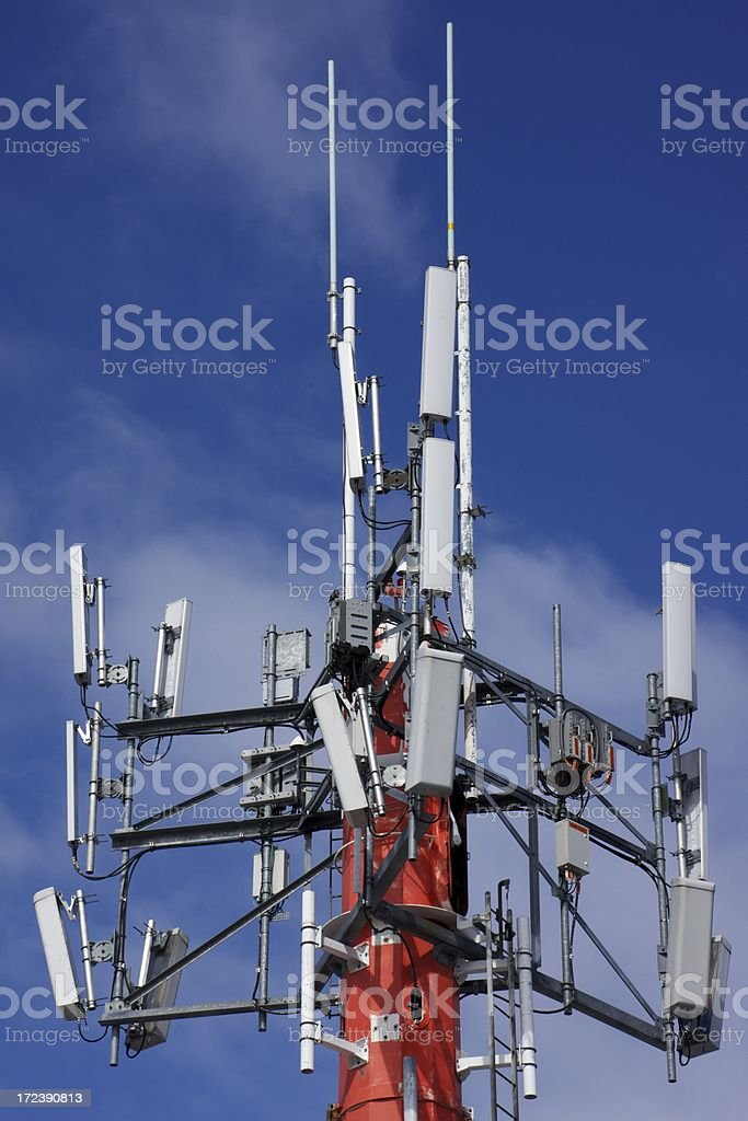 Communications Tower, Close-up stock photo