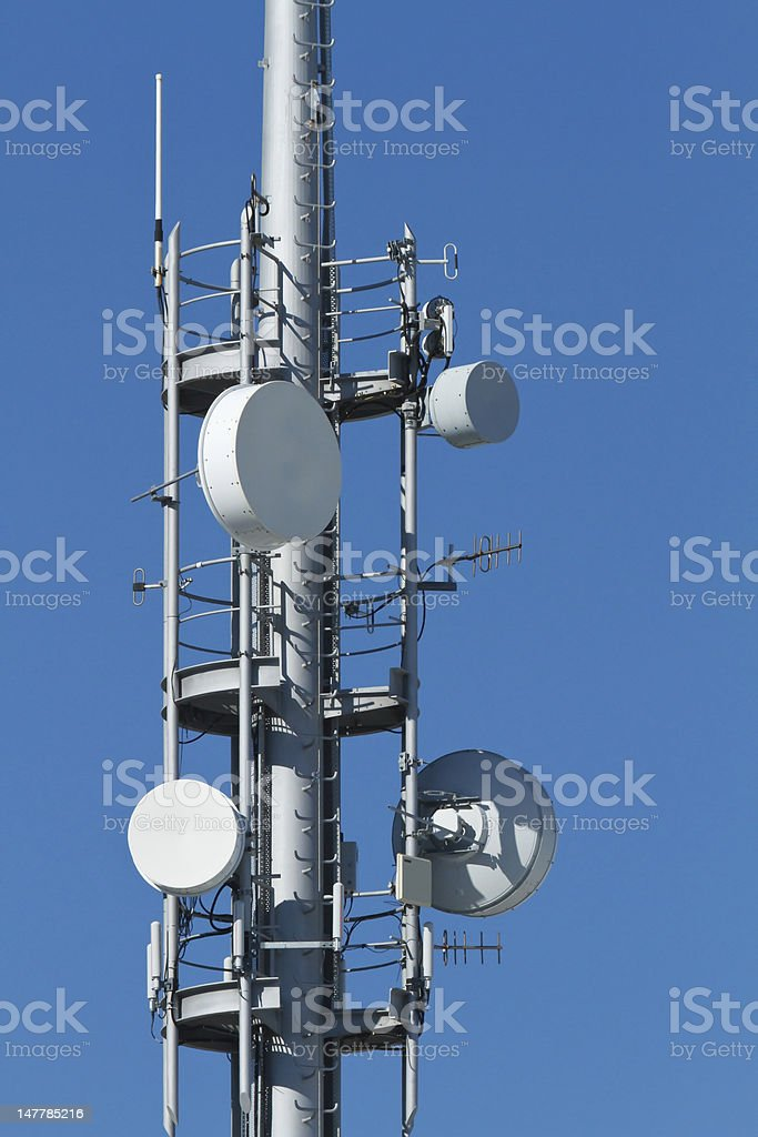Communications Tower Detail royalty-free stock photo