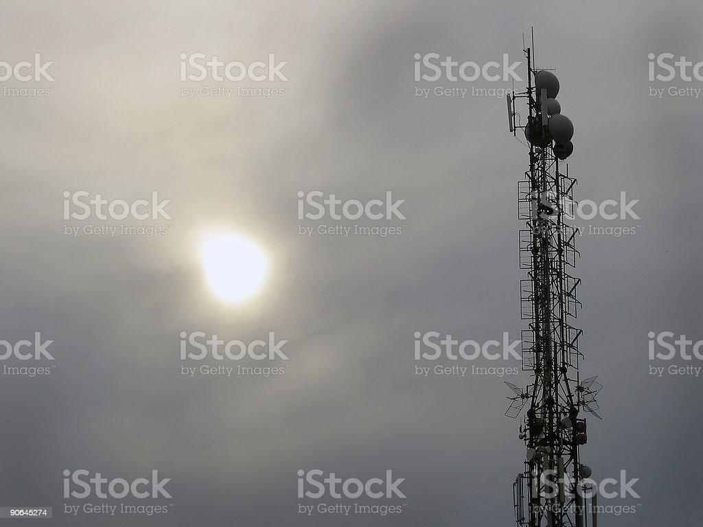 Communications tower stock photo