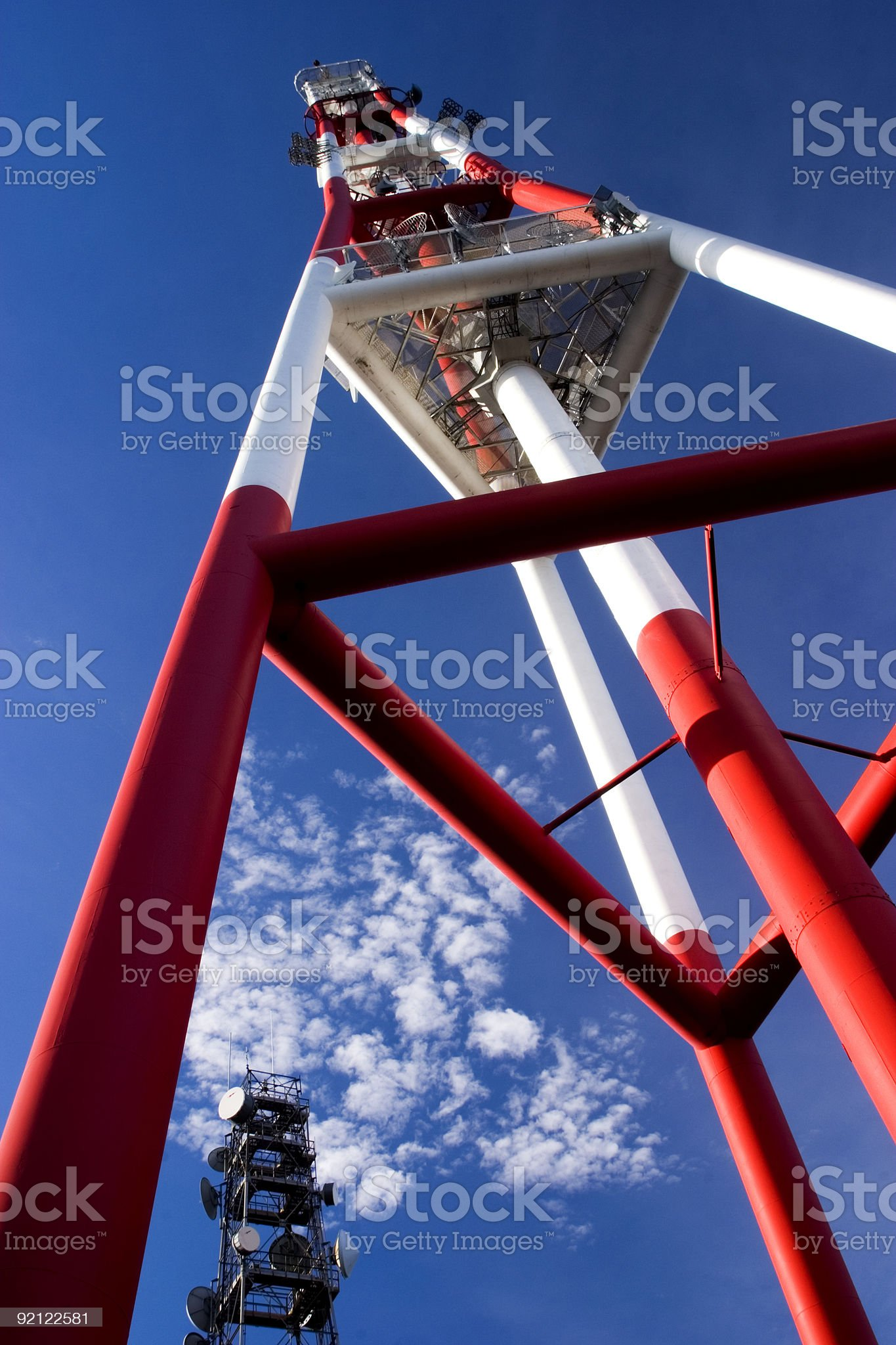 Communications tower royalty-free stock photo