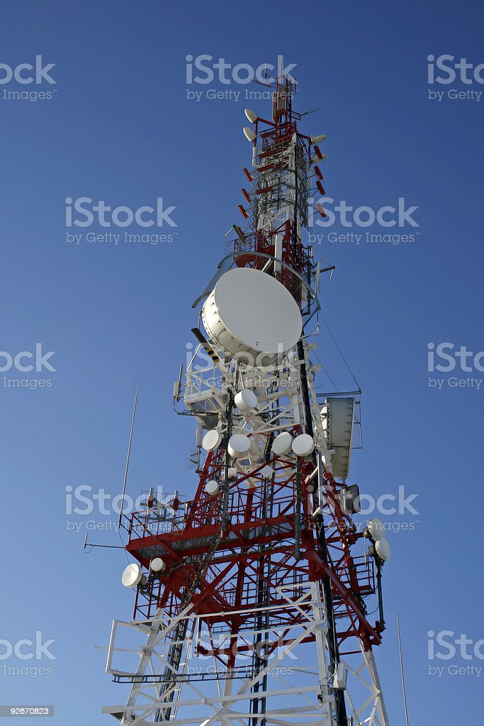 Communicatios Mast royalty-free stock photo