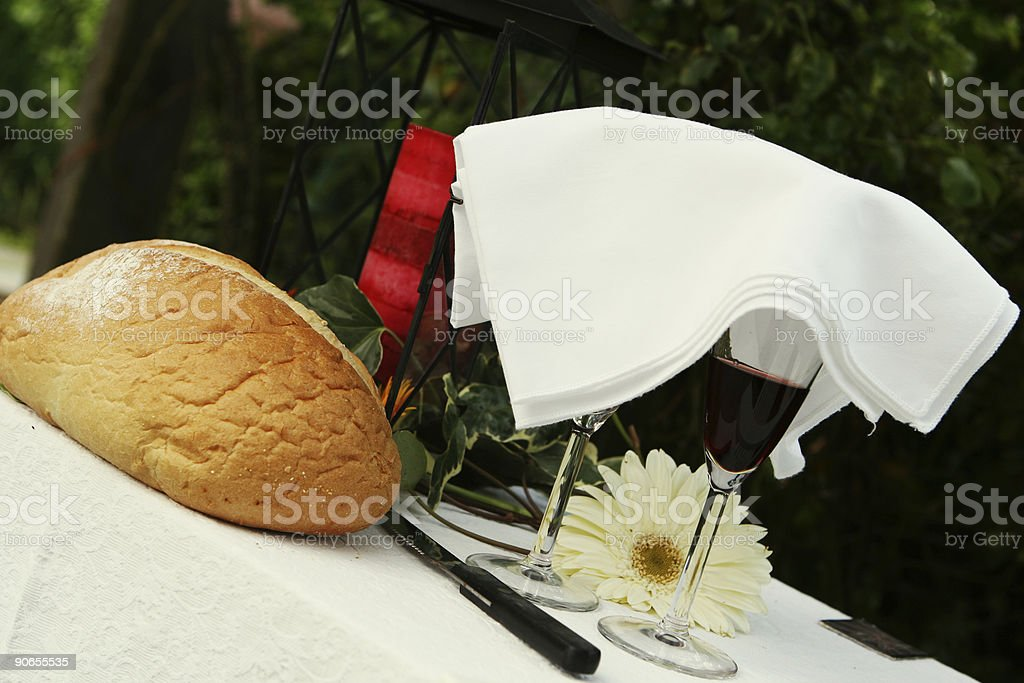 Communion at a Wedding royalty-free stock photo