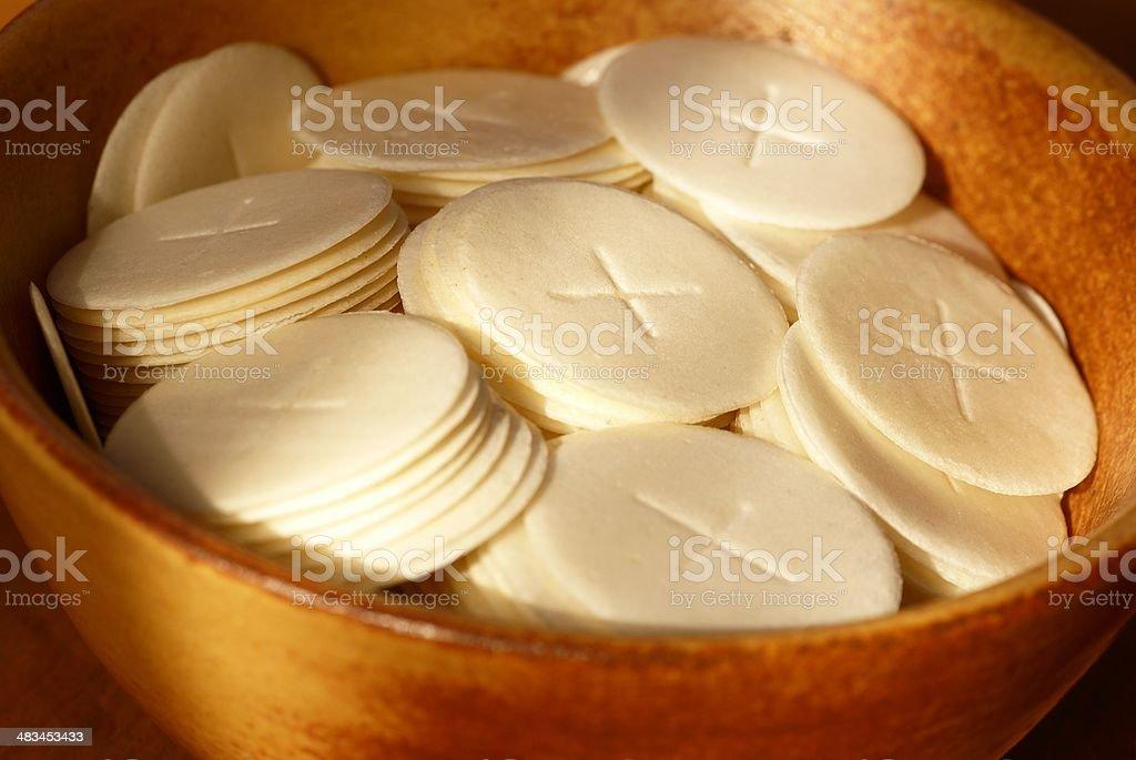 Communion bread royalty-free stock photo