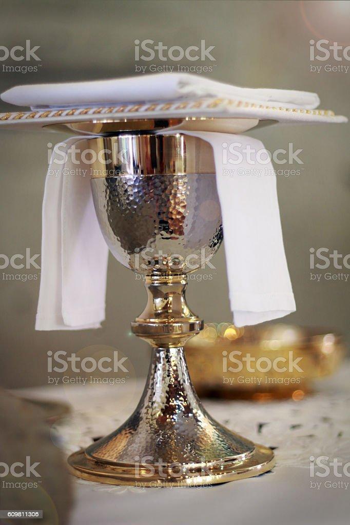 communion chalice Catholic Church stock photo