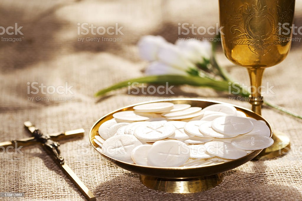 Communion composition stock photo
