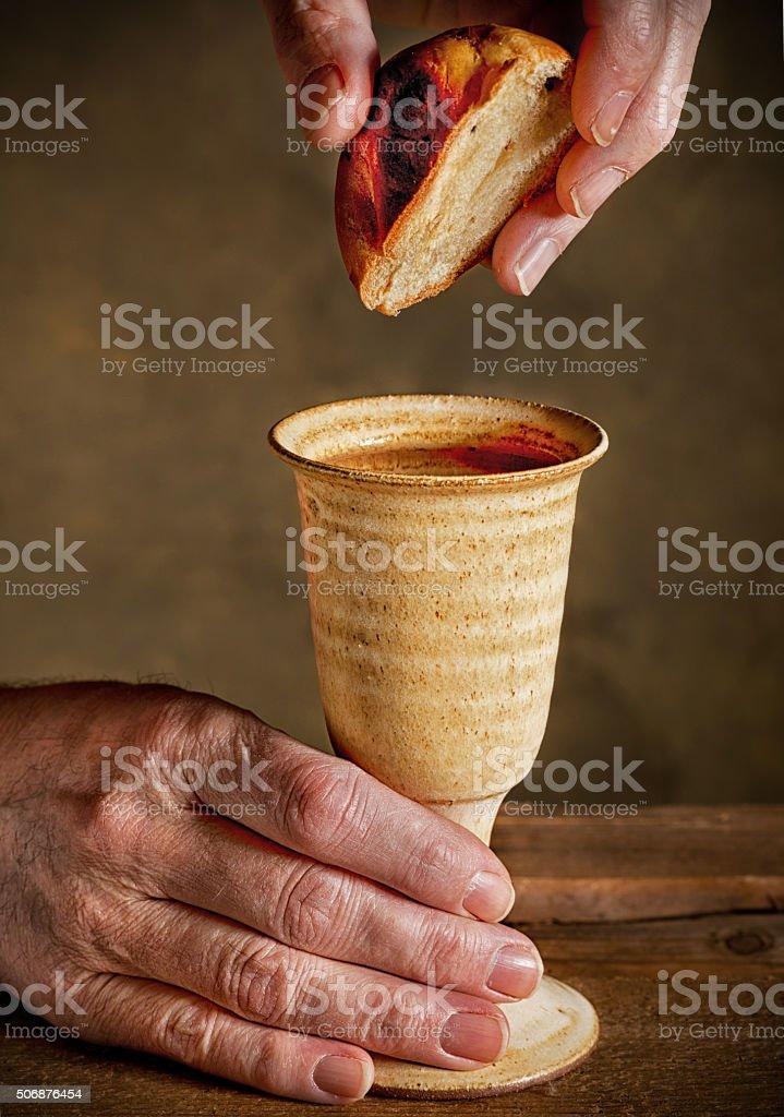 communion under both kinds stock photo