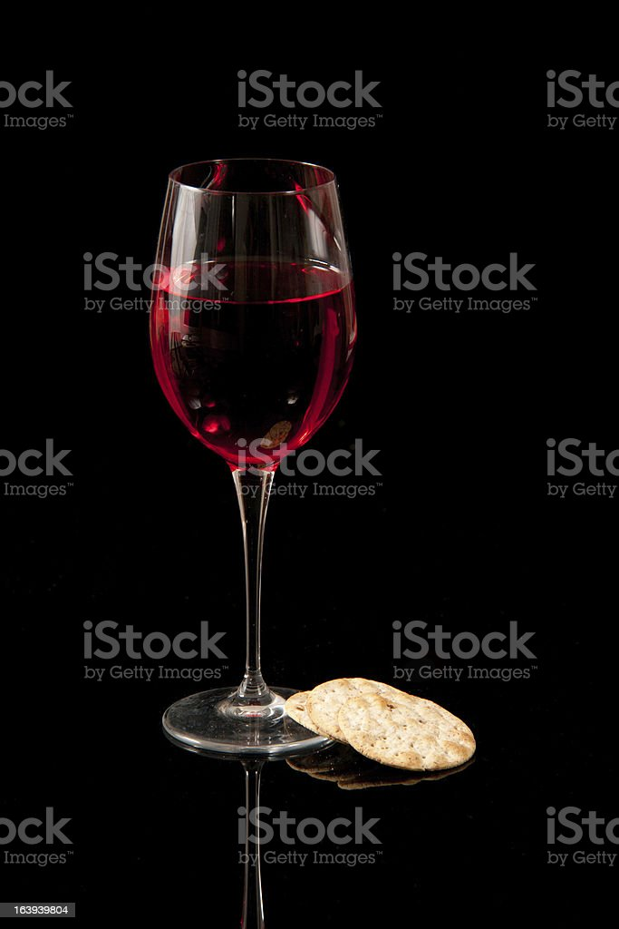 Communion Wine & Crackers royalty-free stock photo