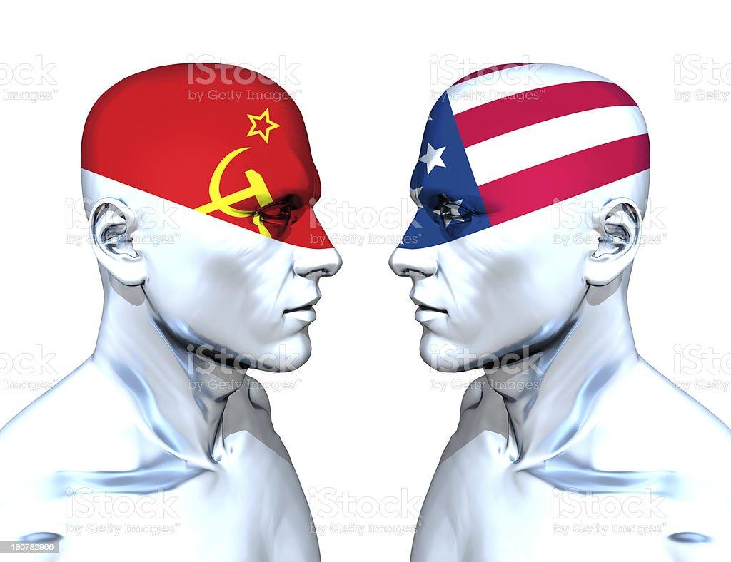 Communism vs Imperialism stock photo