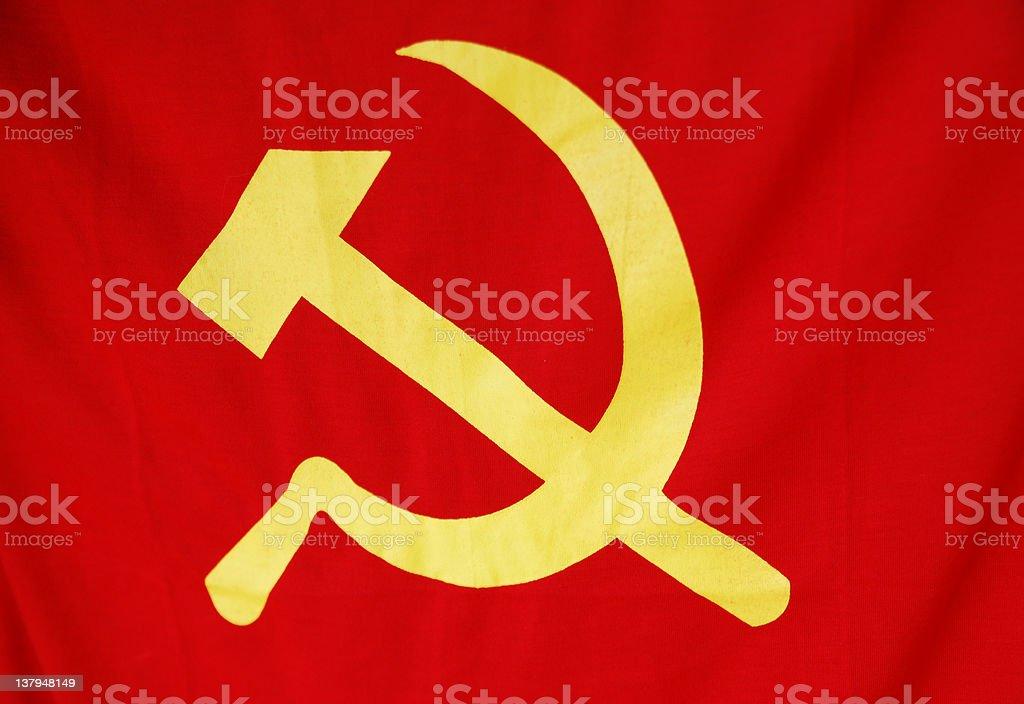 Communist flag stock photo