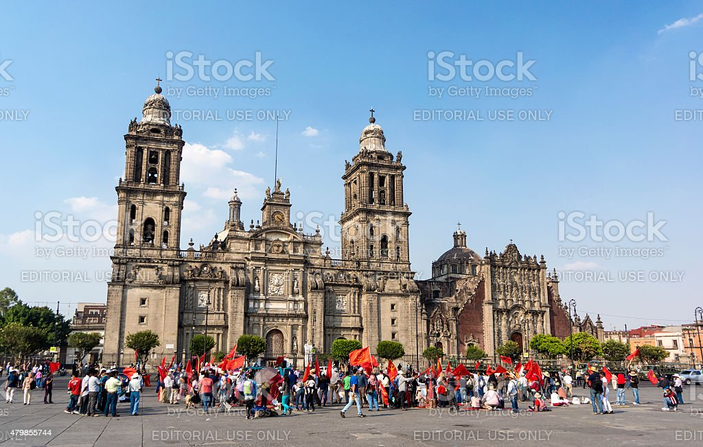 Communist Rally In Mexico City stock photo