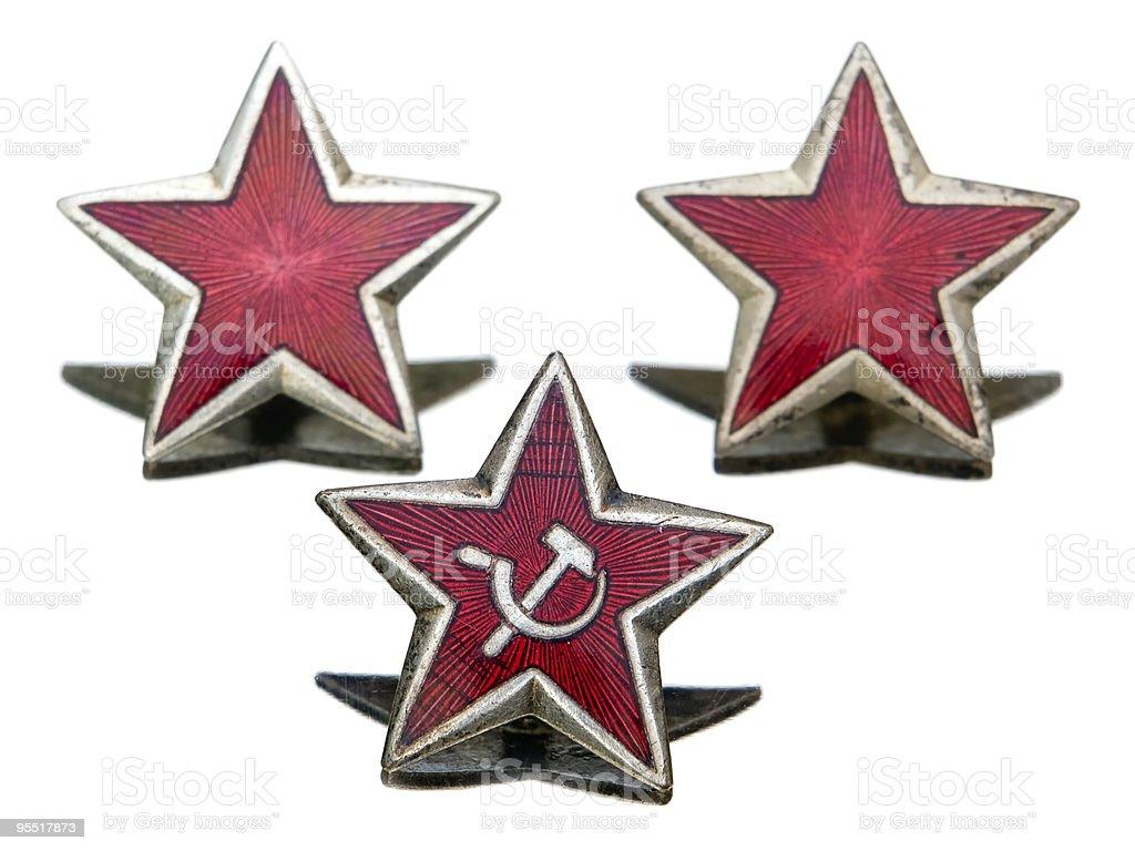 Communist stars royalty-free stock photo