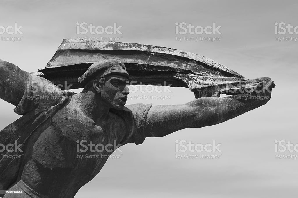 Communist statue in Memento Park (Budapest, Hungary) stock photo