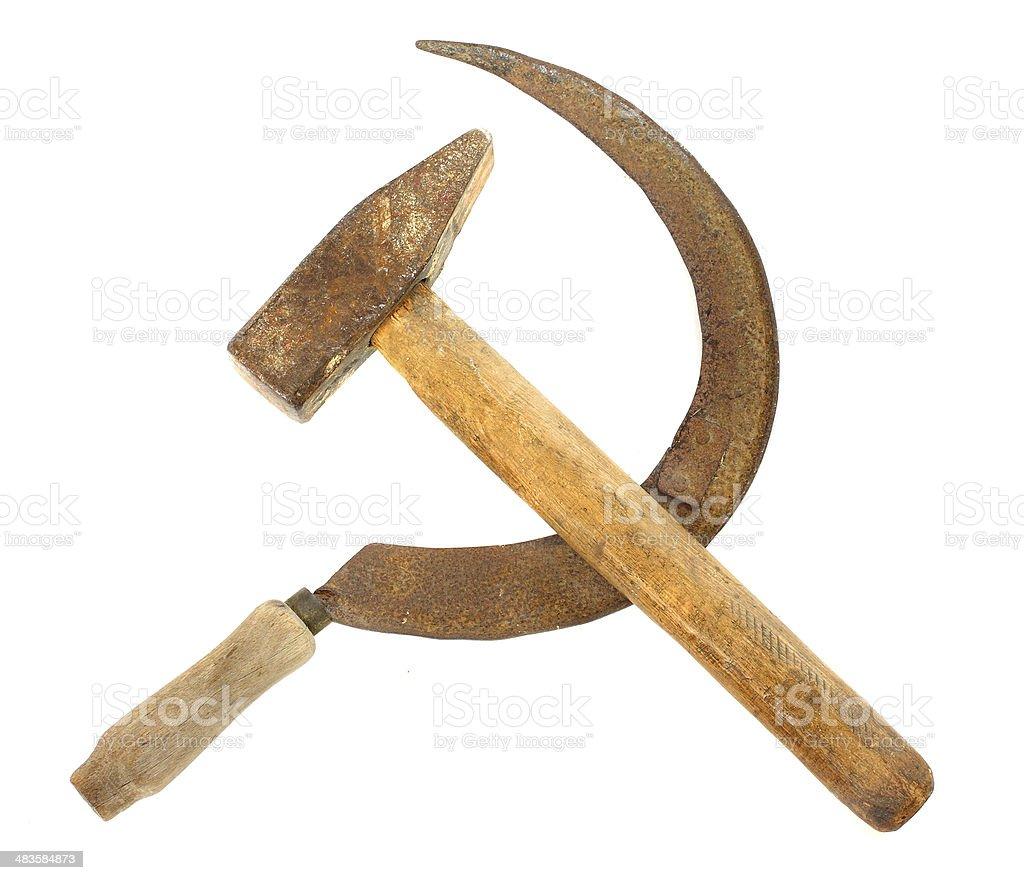 Communist symbol stock photo