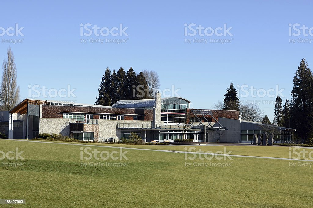 Community Center and Park royalty-free stock photo