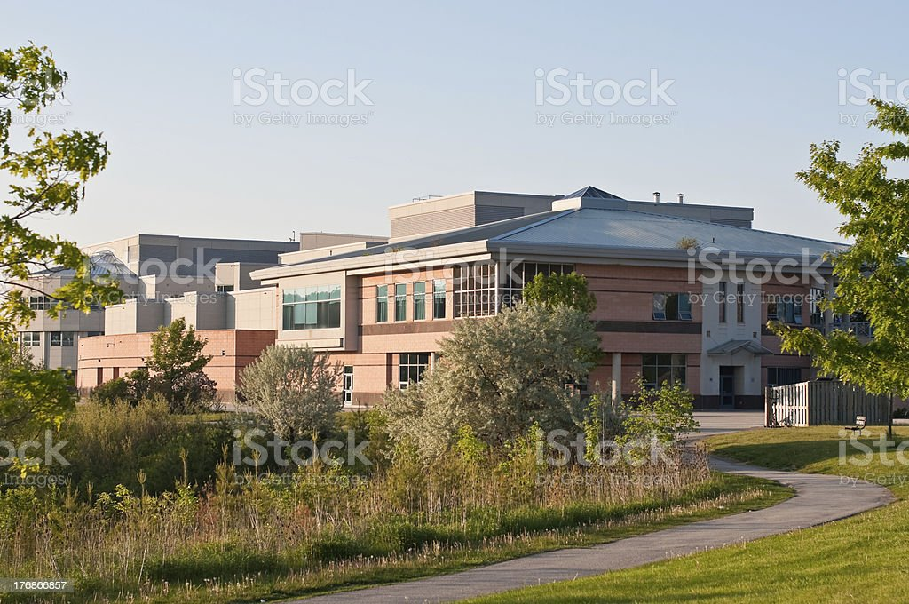 Community Center Building stock photo