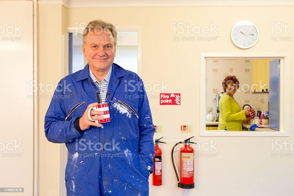 Community Centre Caretaker stock photo