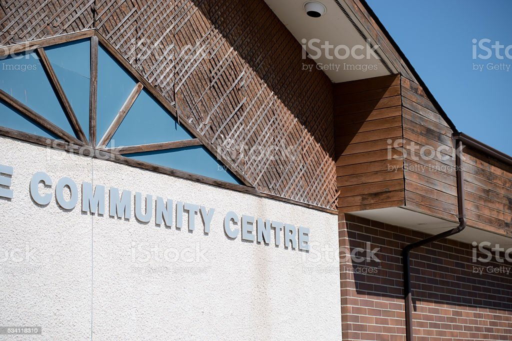 community centre stock photo