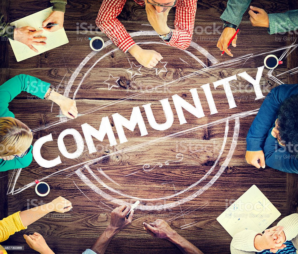 Community Citizen Diversity Connection Communication Concept stock photo