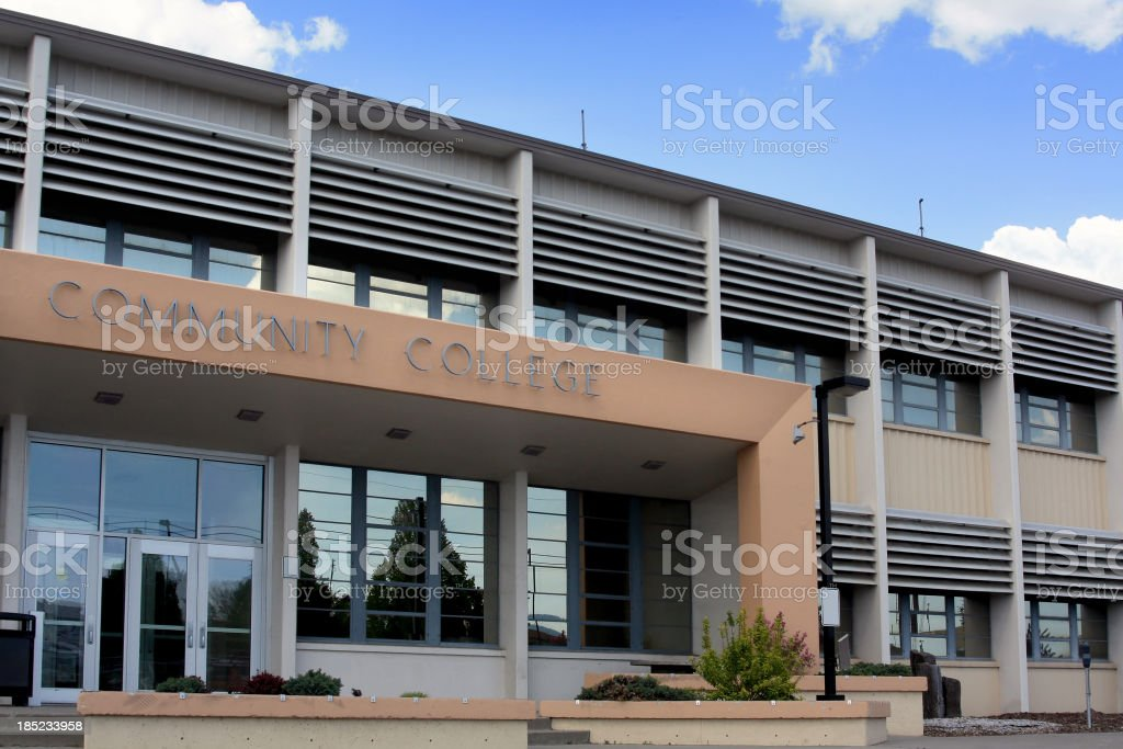 Community College Building royalty-free stock photo