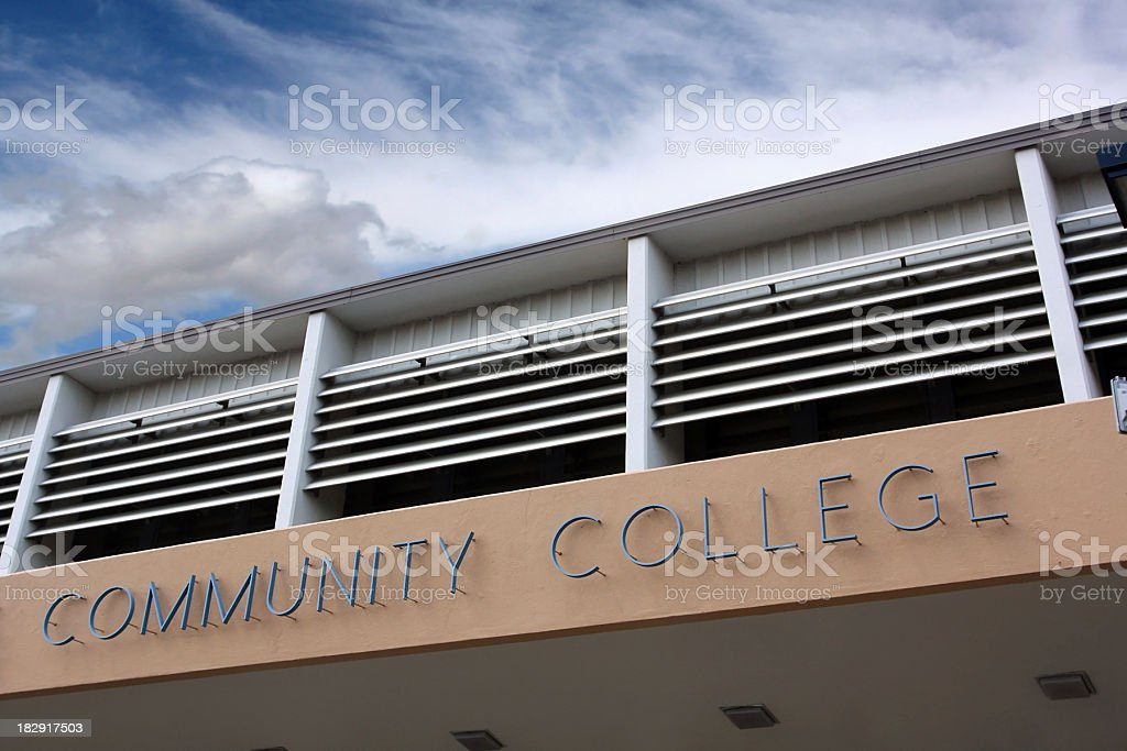 Community College royalty-free stock photo