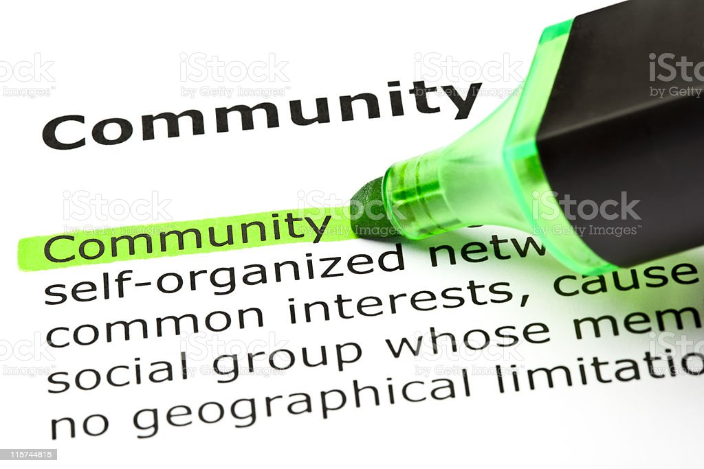 Community Definition royalty-free stock photo