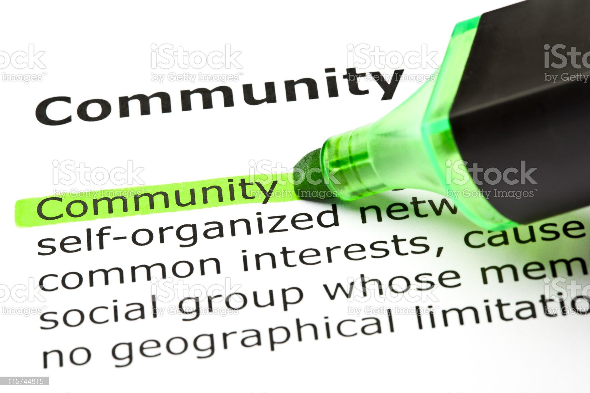 Community Definition royalty-free stock photo