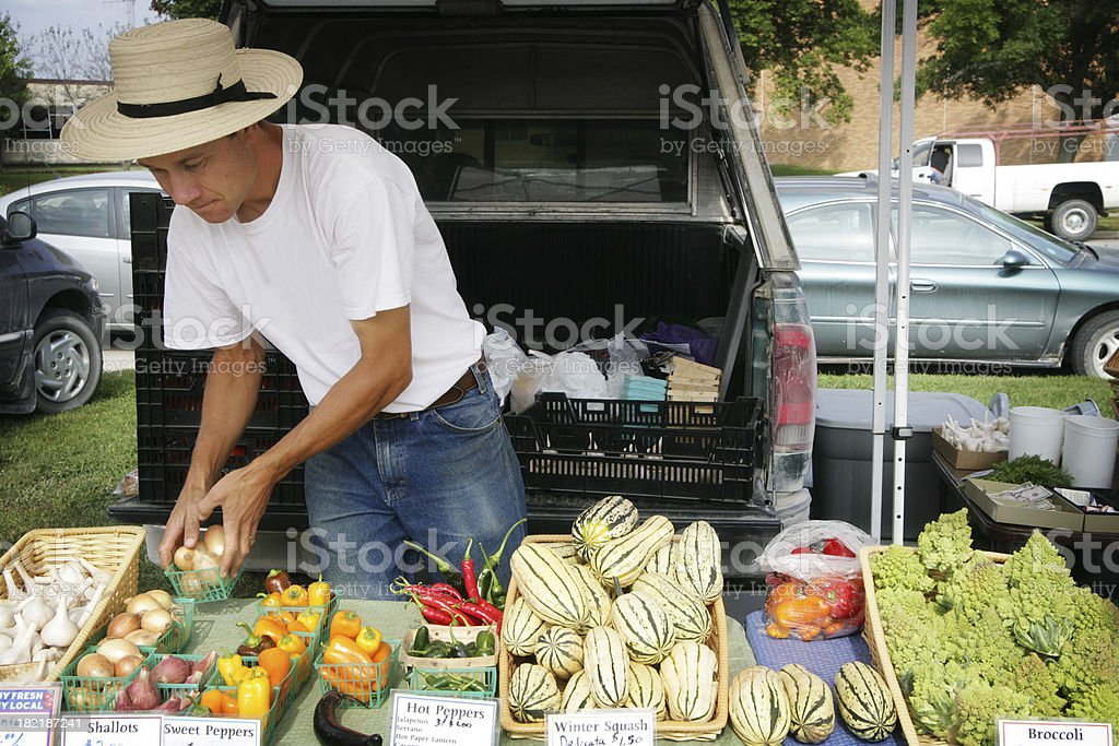 Community Farmer's Market stock photo