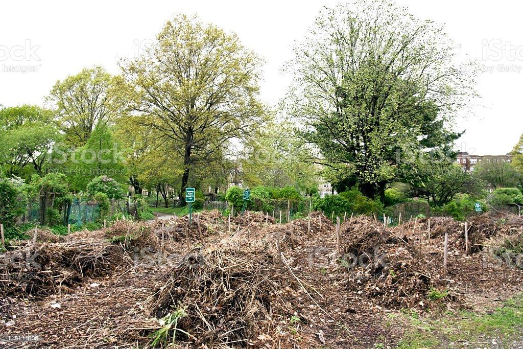 Community Garden Compost royalty-free stock photo