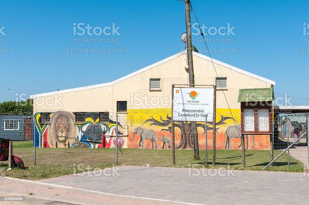 Community hall in Rheenendal stock photo