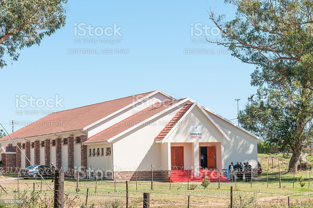 Community hall in Thornhill stock photo