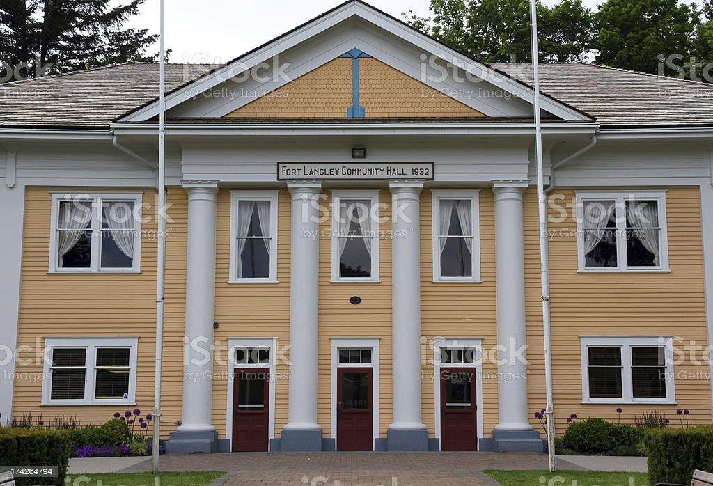 Community Hall stock photo