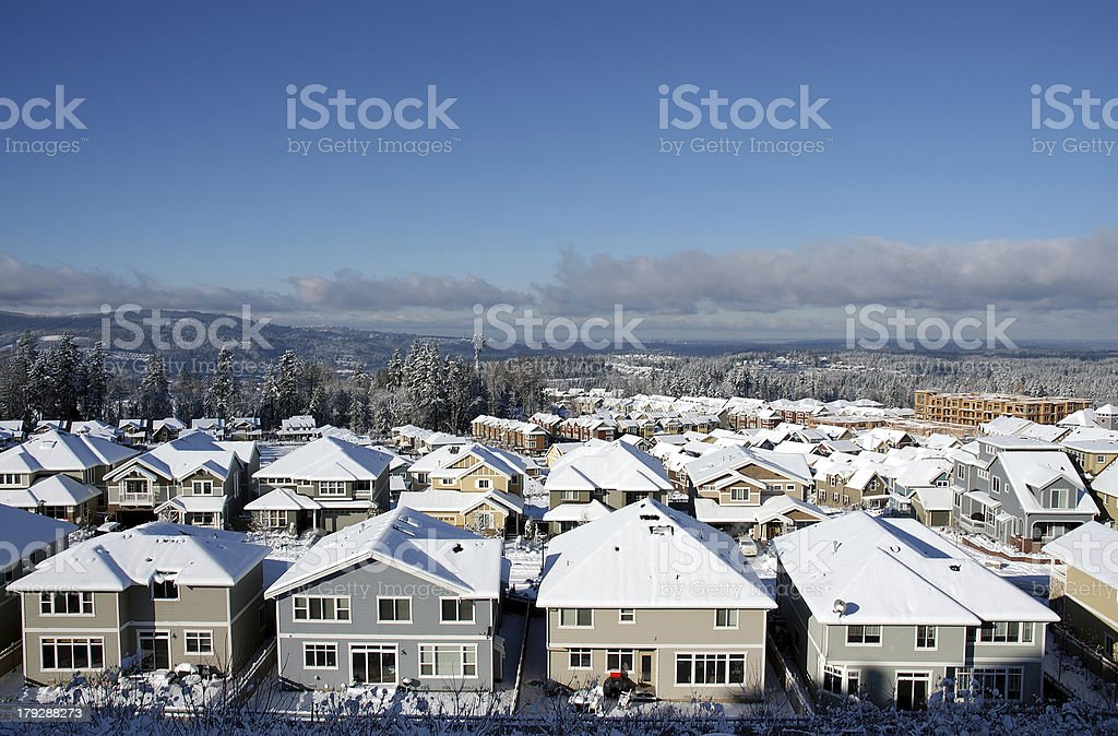 Community in Winter view royalty-free stock photo