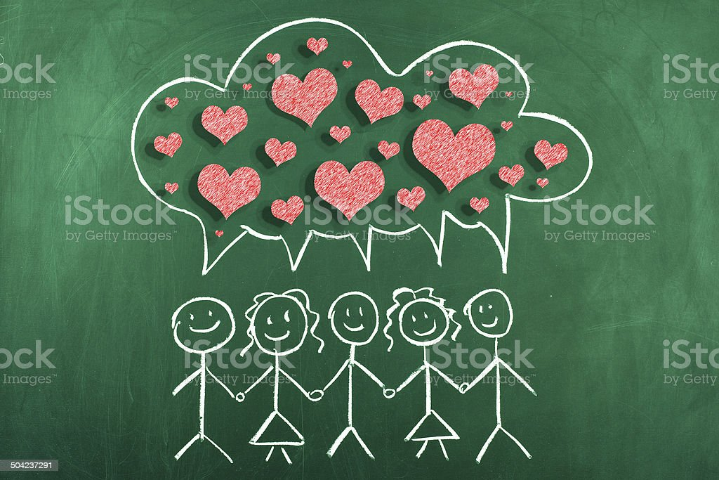 Community Love stock photo