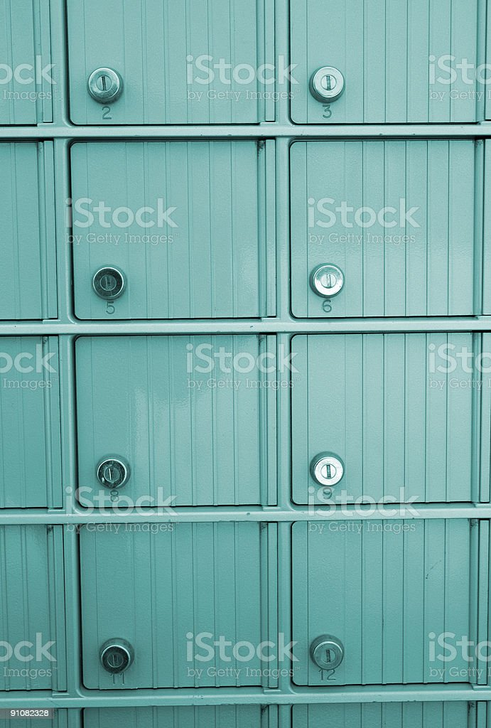 Community Mailboxes stock photo