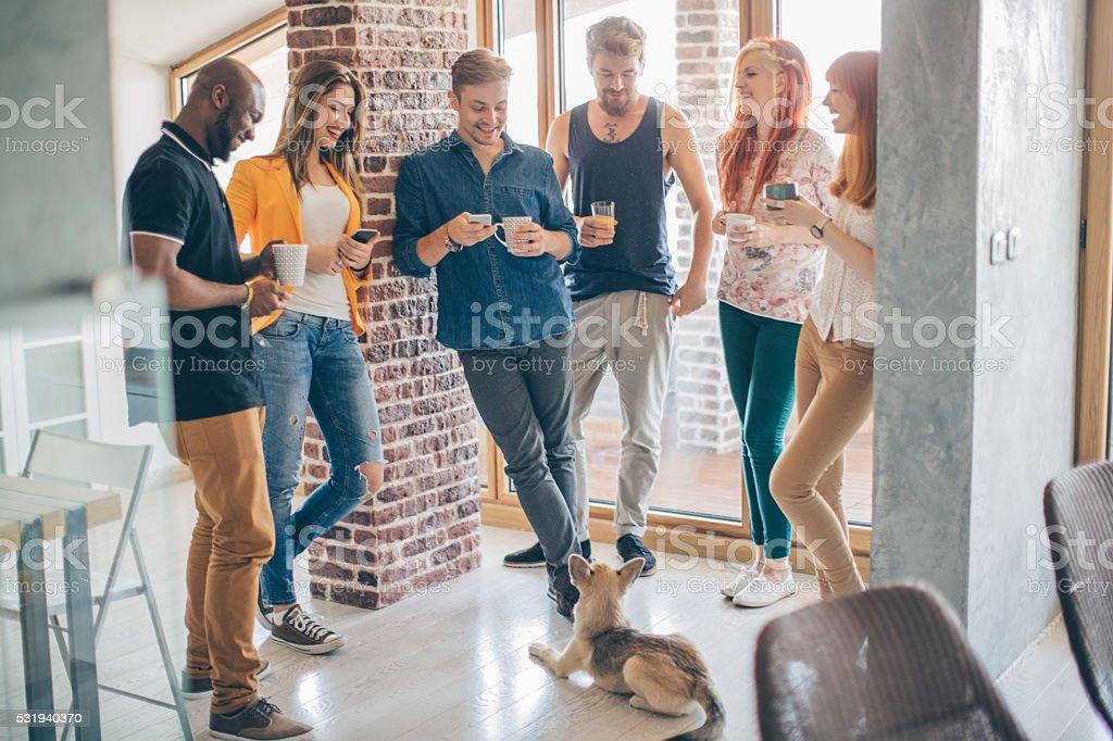 Community of likeminded young people stock photo