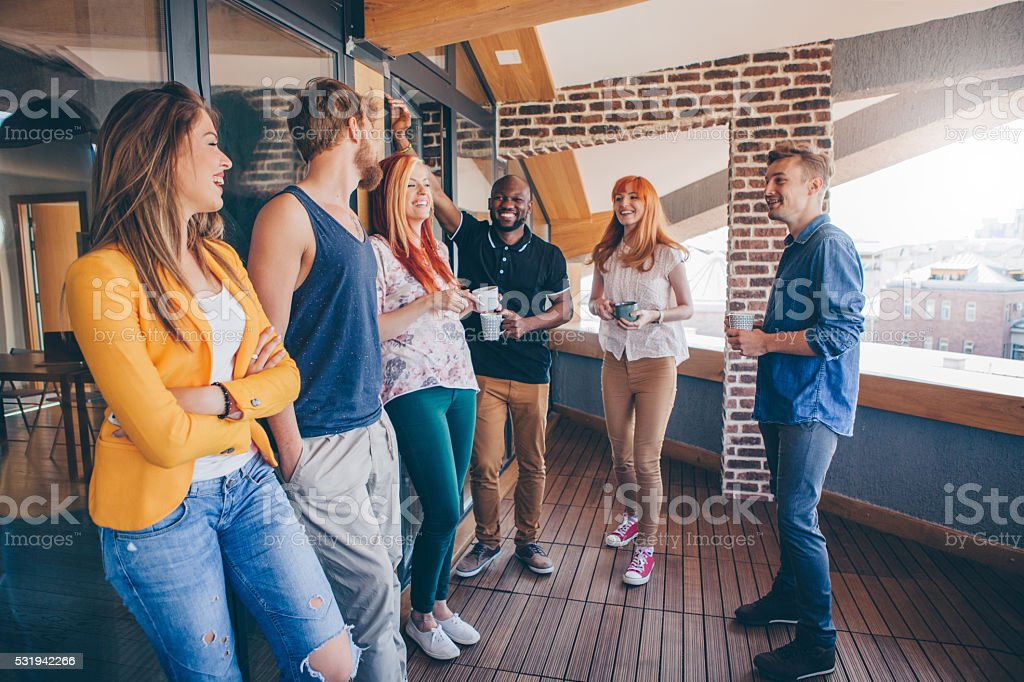 Community of likeminded young people stock photo