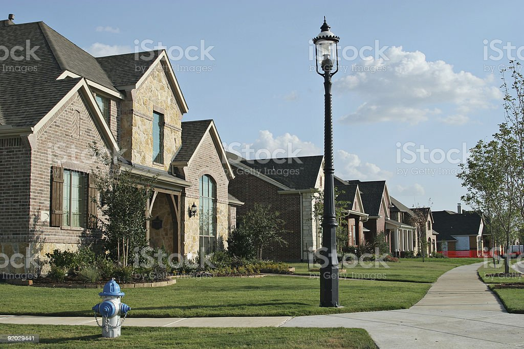 Community of single family homes stock photo
