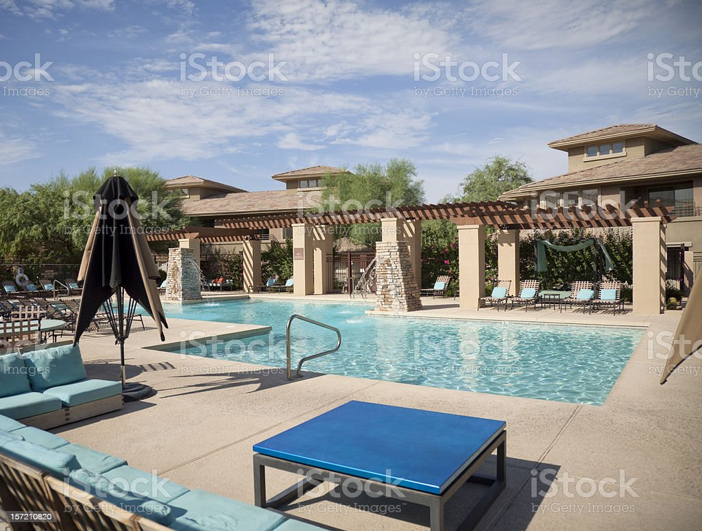 Community Pool Area royalty-free stock photo