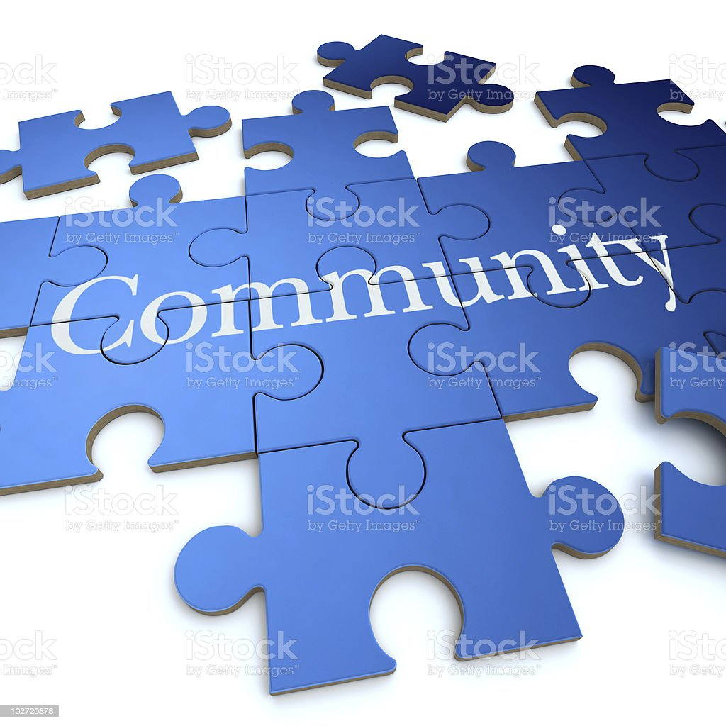 Community puzzle stock photo