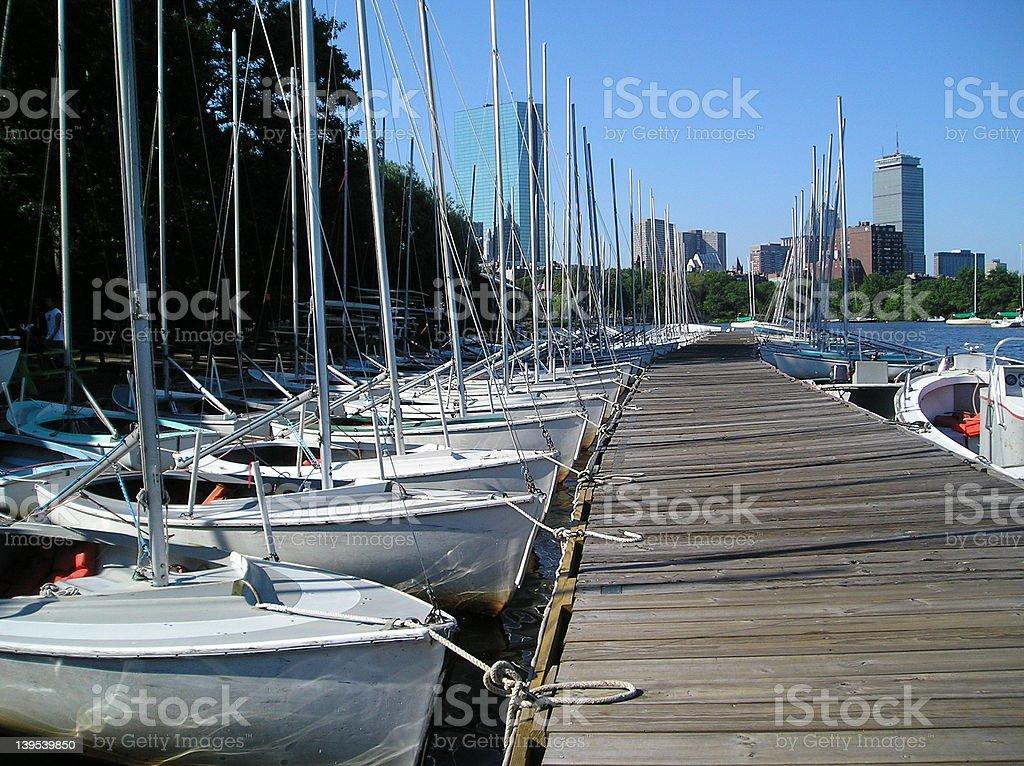 Community Sailboats royalty-free stock photo