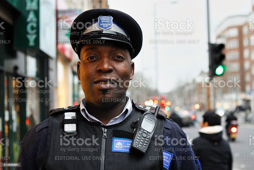 Community Support Officer stock photo
