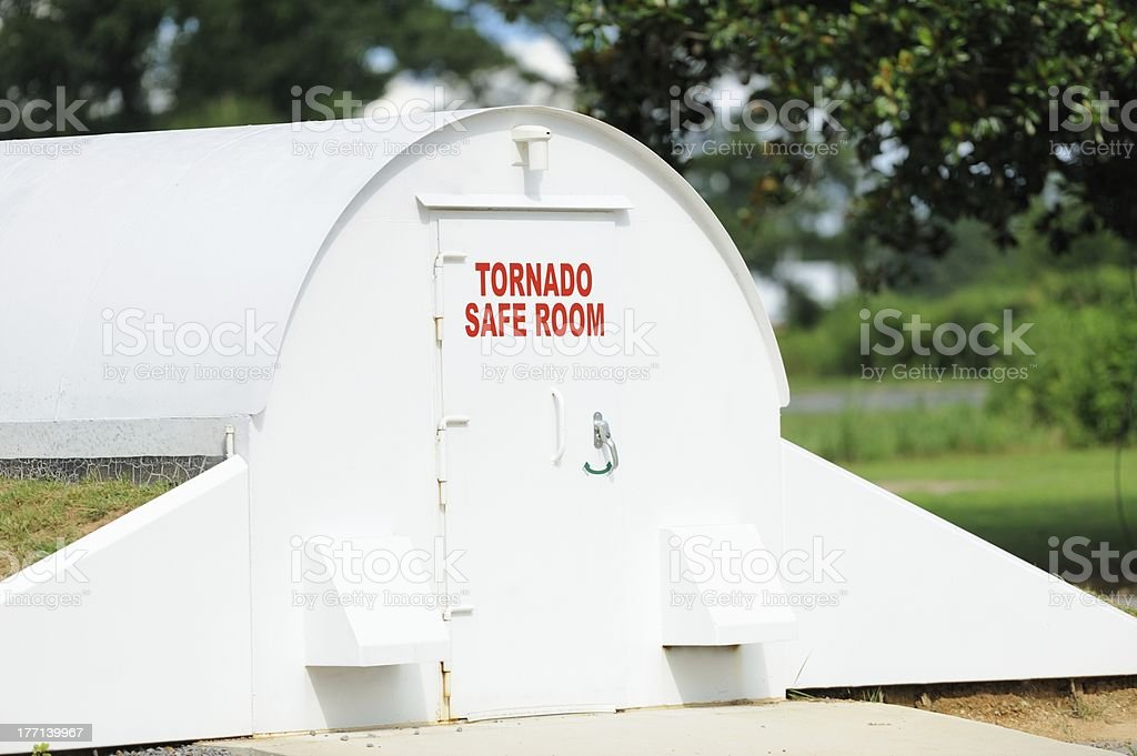 Community tornado safe room. stock photo