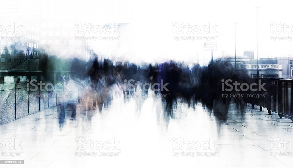 Commuter abstract royalty-free stock photo