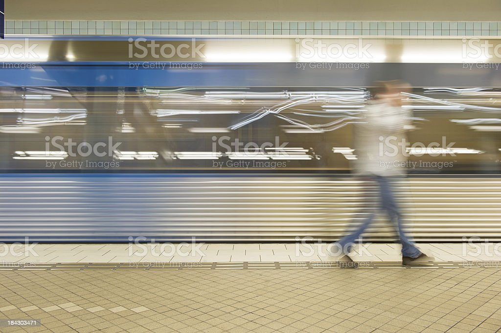 Commuter Abstract stock photo
