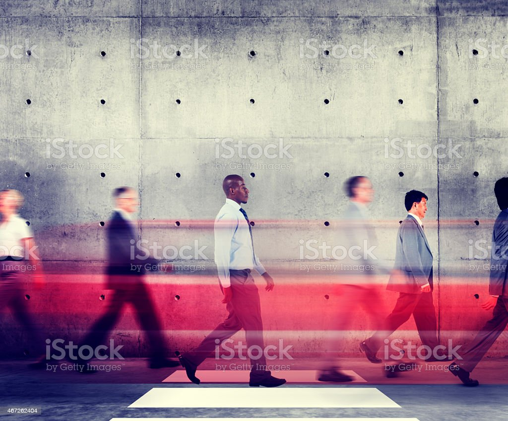 Commuter Business People Walking Office Building Organization Co stock photo