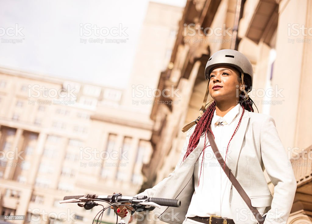 commuter cyclist stock photo