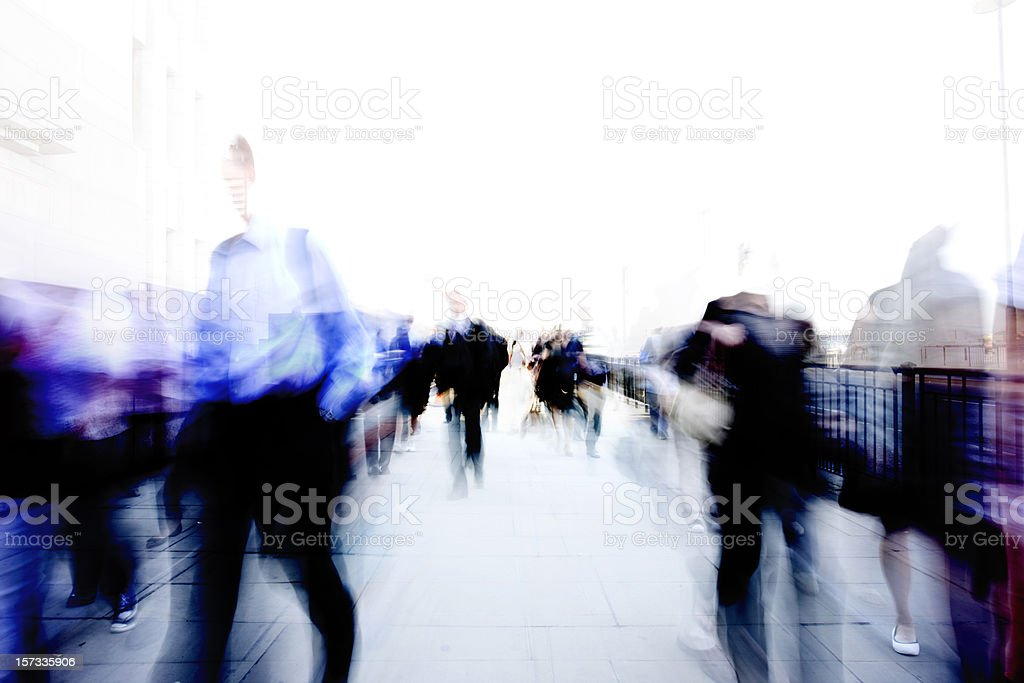Commuter ghosts royalty-free stock photo